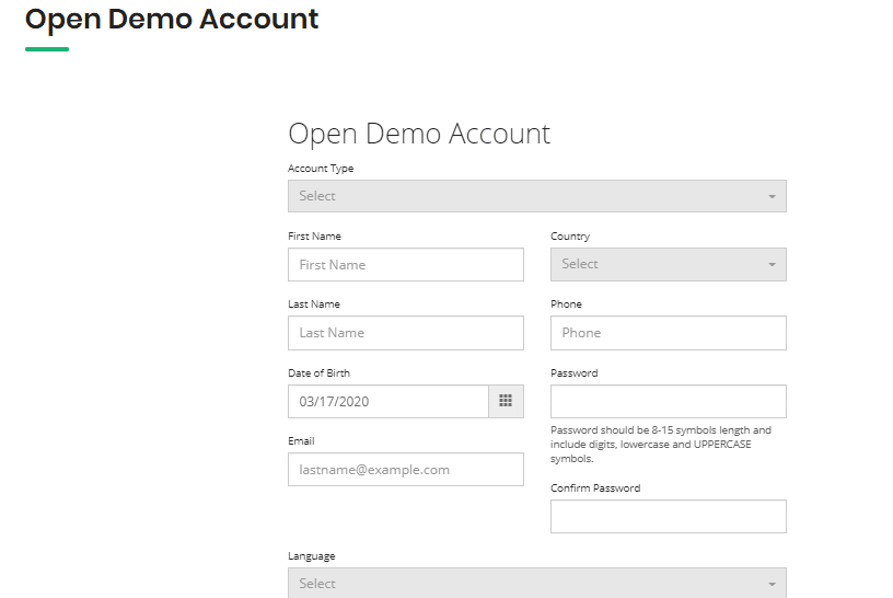 Globex360 Demo Account