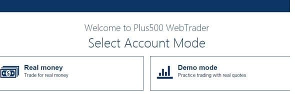 Plus500: how to open an account -1