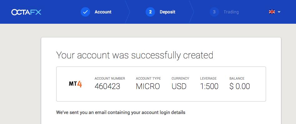 OctaFX Opening an Account -5