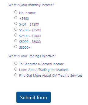 CMTrading Live Account Step 2