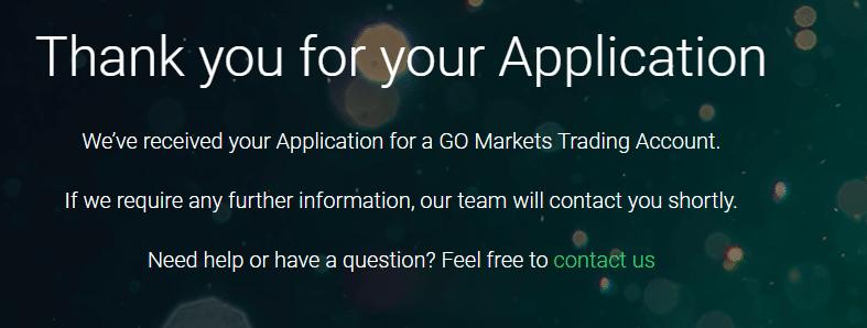 GO Markets Live Account Step -6