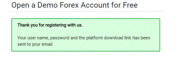IronFX Demo Account Step 2