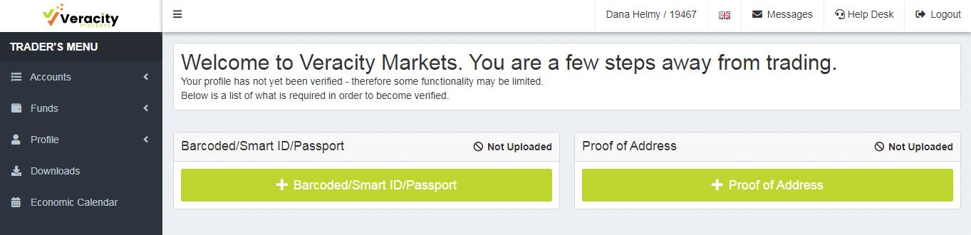 Veracity Markets Account -3