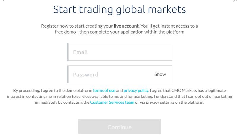 CMC Markets Step -2