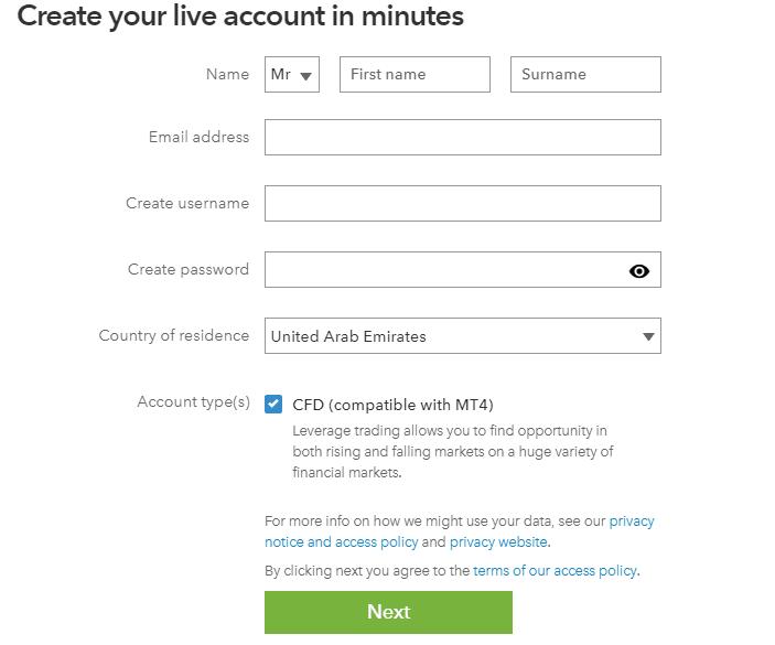 IG Account Step One